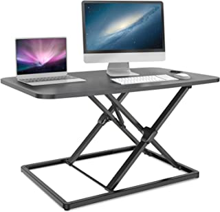 Standing Desk Converter, Ohuhu 31.3inch Height Adjustable Stand up Desk Converter Fully Assembled Gas Spring Riser Sit to ...