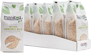 Brown Arborio Rice by Manitou Trading Company, 18-Ounce, 6 Pack Sleeve