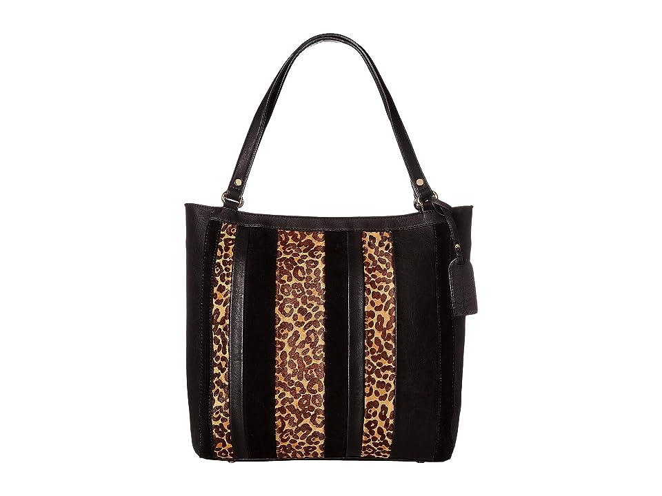 53e9b35290f2 SOLE / SOCIETY Ragna Tote (Black Leopard) Tote Handbags