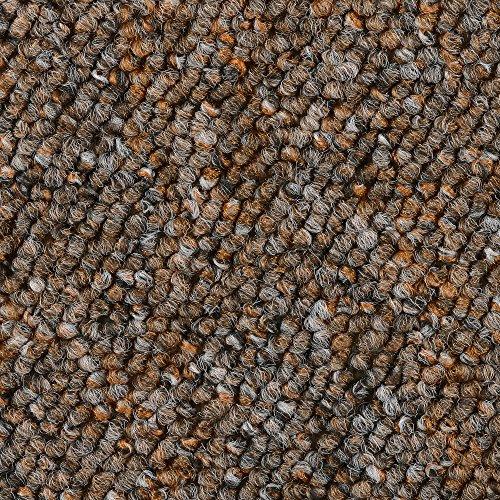 BODENMEISTER BM72392 Teppichboden Auslegware Meterware Schlinge braun terra 400 und 500 cm breit, verschiedene Längen, Variante: 5,5 x 5 m