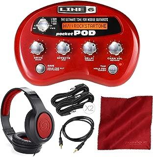 Line 6 Pocket Pod Effects Unit w/Headphones & Deluxe Accessory Bundle