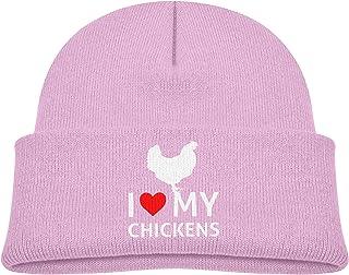 I Love My Chickens Winter Cold Children Knitted Hat Warm Hedging Cap Boys Girls Cotton Beanie