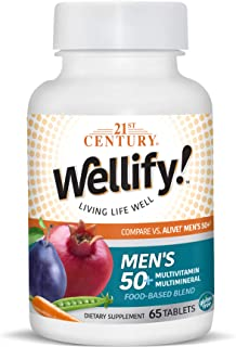 21st Century Wellify Men's 50+ Multivitamins with Minerals, 65Count