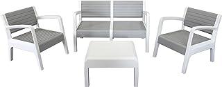 comprar comparacion Shaf Miami - Conjunto muebles jardín/terraza, color piedra