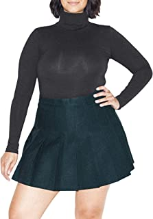 Women's Cotton Spandex Long Sleeve Turtleneck Bodysuit