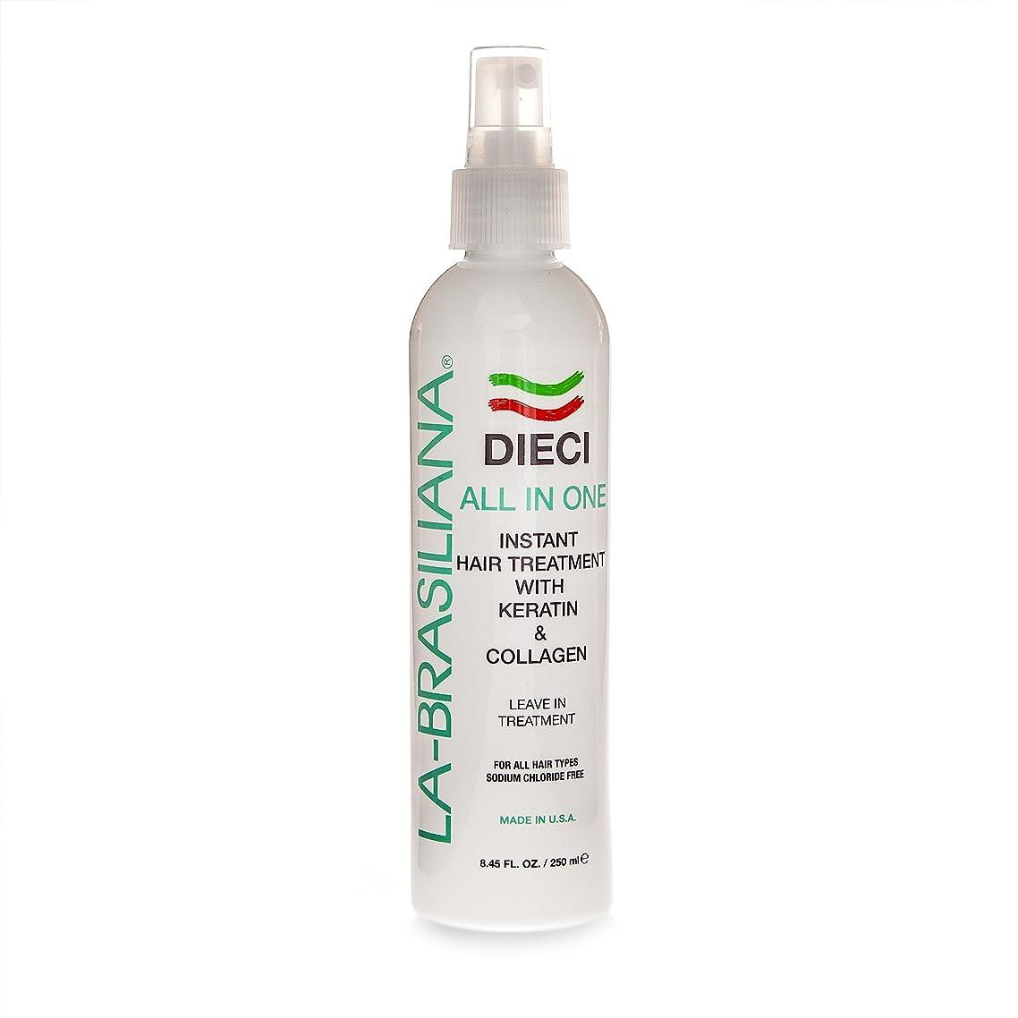La-Brasiliana Dieci All-In-One Instant Hair Treatment, 8.45 fl.oz.