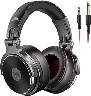 OneOdio DJ Auriculares, Estudio Auriculares, Auricular sobre la oreja, auriculares estéreo cableado Auricurales Plegables ...