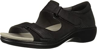 Aravon Women's Duxbury Two Strap Sandal, Black, 8 D US