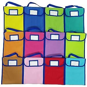 ABCKEY Classroom Take-Home Bags Set of 12