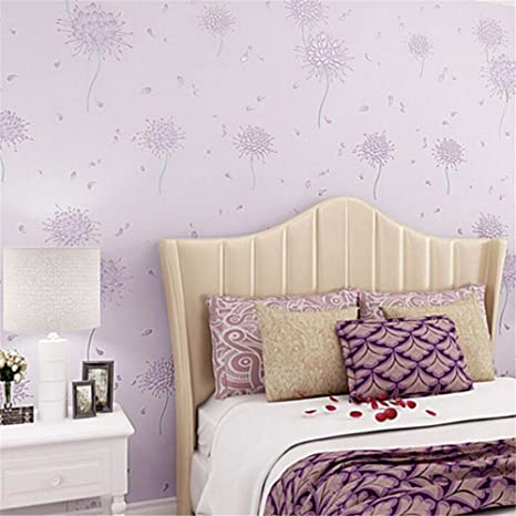 Amazon Com Bomeautify Modern Minimalist Pastoral 3d Embossed Quilted Wallpaper Living Room Bedroom Room Background Wall Paper Purple Tools Home Improvement