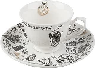 Victoria and Albert Alice in Wonderland Espresso Cup and Saucer 100ml 3.38 fl oz