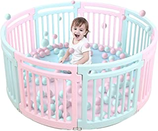 Flodable Playpen Round Fence Kids Colorful Plastic Playpen Kids Activity its look like as Baby trend RESORT
