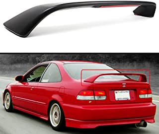 Cuztom Tuning Fits for 1996-2000 Honda Civic 2 Door Coupe EM EJ Si Style Trunk Spoiler Wing W/Red LED 3rd Brake Light