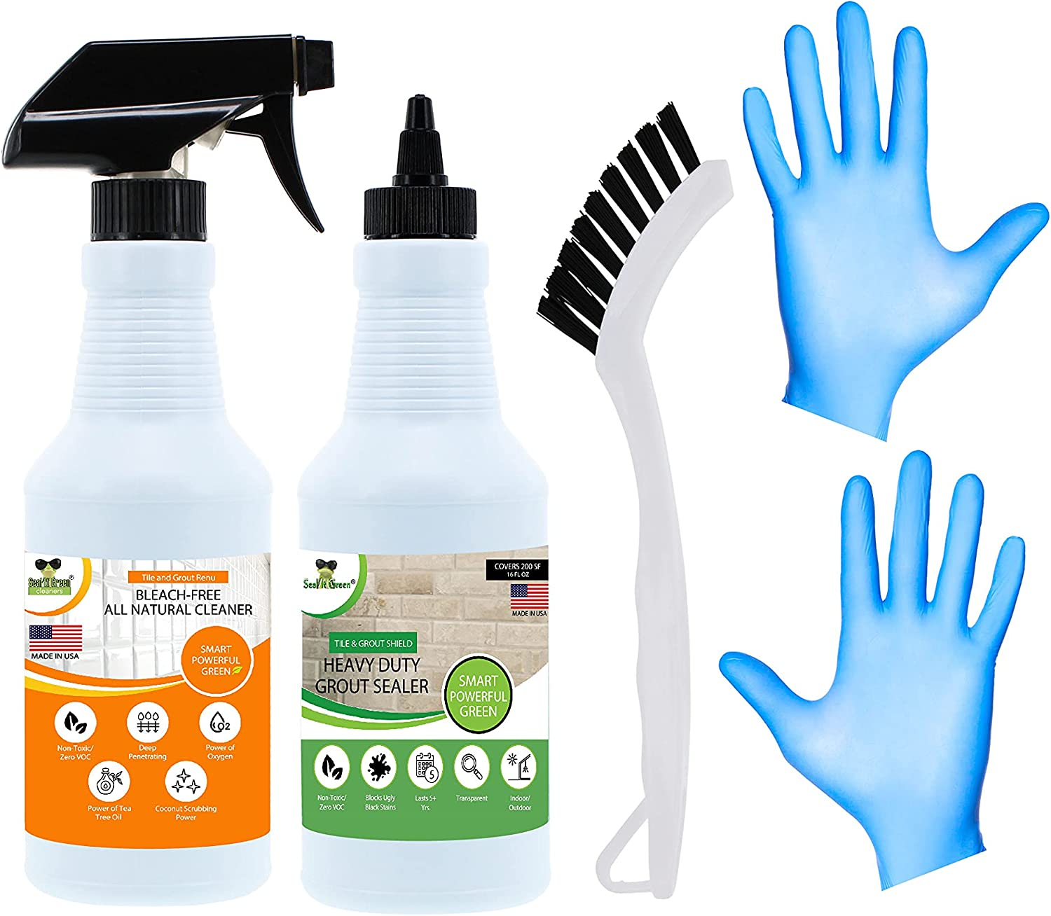 Cheap mail order shopping Ranking TOP1 Tile and Grout Gel Cleaner Stain Sealer Guard Bleach-Free N -
