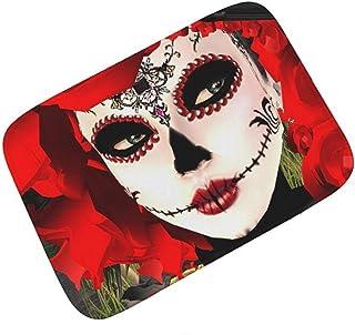 Alfombra de Puerta Impresa en 3D Colorido Día Mexicano Muerto Azúcar Calavera Goma Puerta Alfombra Ducha Cocina Felpudo Al...