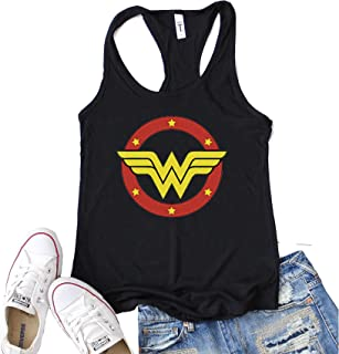 "Funny Threadz Women's Motivation Tank Top ""Wonder Woman"" Driven Success Shirt"