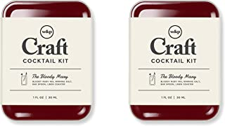 W&P MAS-CARRY-BM-2 Carry on Cocktail Kit, Bloody Mary, Travel Kit for Drinks on the Go, Craft Cocktails, TSA Approved Set ...