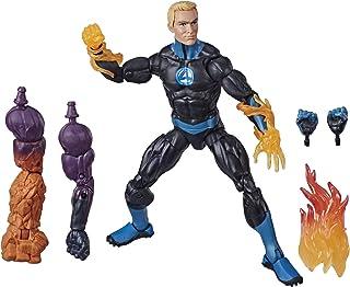 Marvel Legends Series Fantastic Four 6-inch Collectible Action Figure Human Torch Toy, Premium Design, 4 Accessories, 3 Bu...