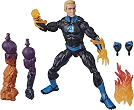 "Marvel Legends Series Fantastic Four 6"" Collectible Action Figure Human Torch Toy, Premium Design, 4 Accessories, 3 Build-A-Figure Parts"