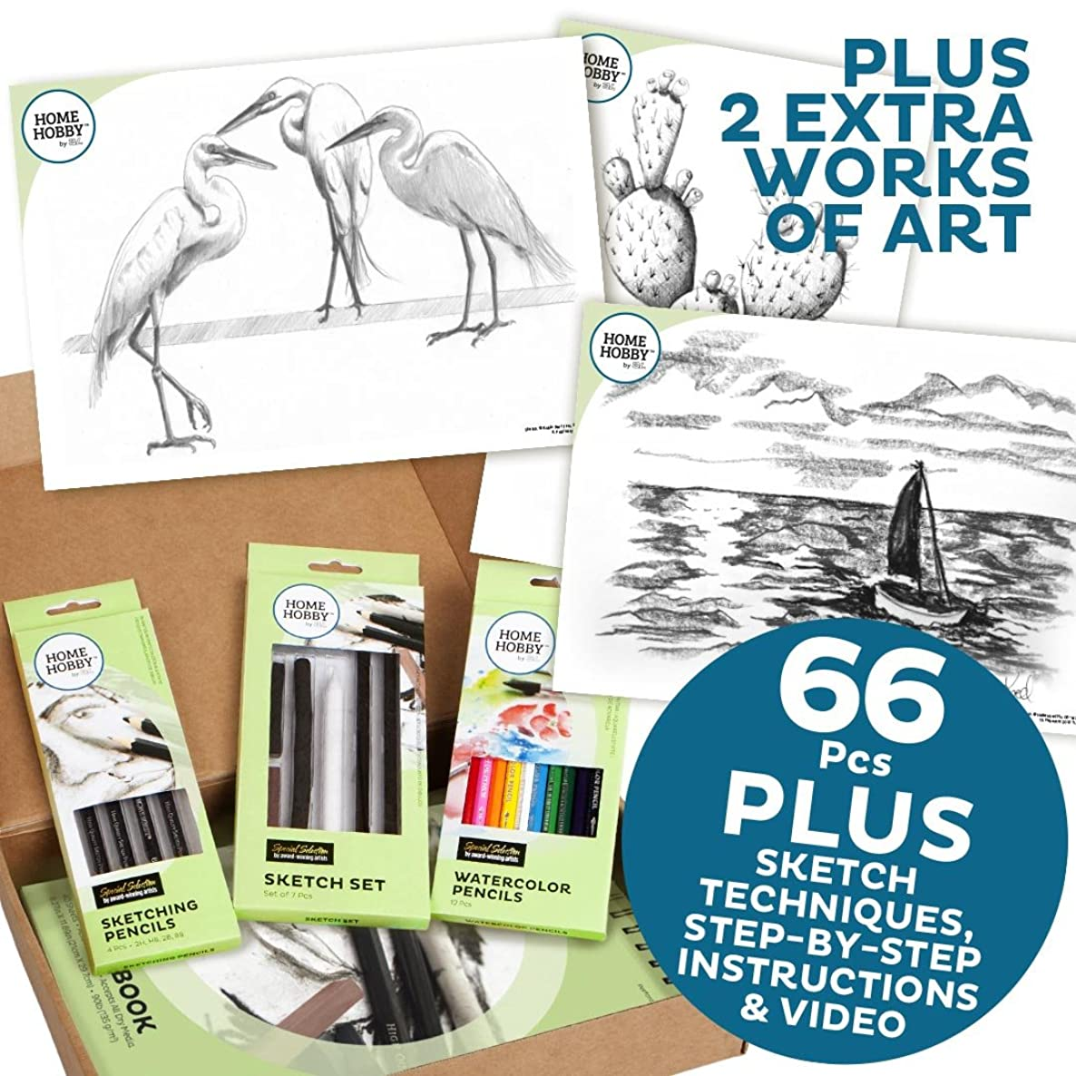 THE HOMEHOBBY BY 3L?SKETCH STUDIO KITPLUS 14204 - THREE EGRETS?BY ROBIN BERRY
