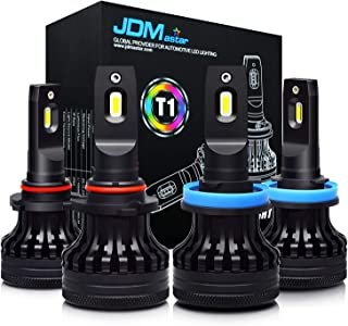 JDM ASTAR T1 9005 High Beam H11 Low Beam Combo All-in-One Upgrade Vision White LED Headlight Bulbs