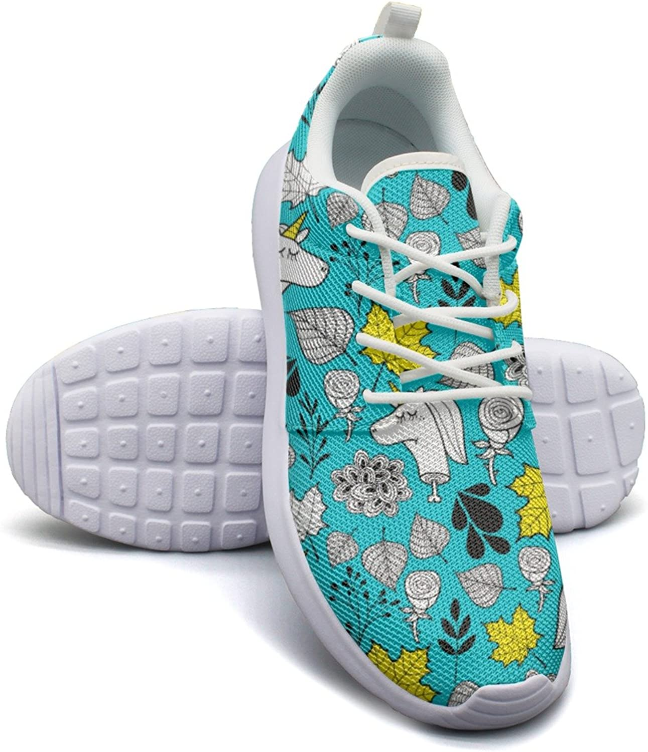 The Number of Horns On A Unicorn Women's Lightweight Mesh Sneakers Cool Boat shoes