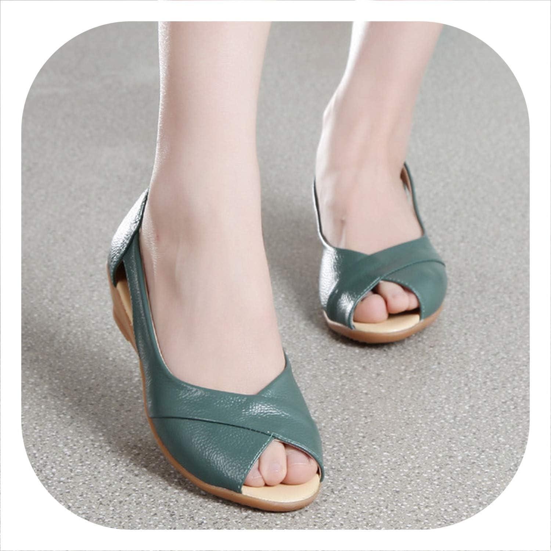 HANBINGPO 2019 Wedges Sandals Women Summer shoes Casual Slip On Summer Solid Platform Sandals Plus Size 35-43
