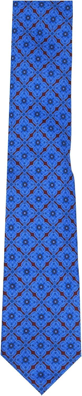 Stefano Ricci Men's 001 Blue/Red Cravatta In Seta Stampata Luxury Necktie