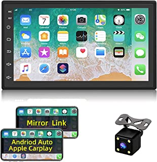 $158 » Double Din Car 7 Inch Stereo Compatible with Apple CarPlay and Android Auto Built-in WiFi and Bluetooth Car Audio Receiver...