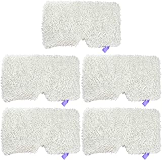 Ugardo 5pcs Replacement Microfiber Steam Mop Washable Pads for Shark Steam Pocket Mops S3500 Series 3501,S2901,S2902,S3455K,S3501,S3550,S3601,S3801,S3901,S4601,S4701,SE450 Accessories