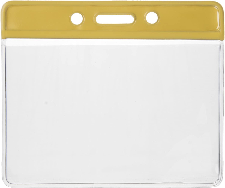 Karteo/® Ausweish/ülle Ausweish/üllen Kartenh/ülle Kartenh/üllen Ausweishalter Kartenhalter Halter weich aus Vinyl Plastik transparent mit rotem Farbbalken horizontal f/ür Karten 86 x 54 mm Ausweise Kreditkarten Dienstausweise EC K
