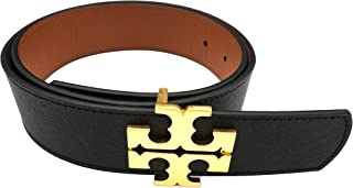 Tory Burch 75407 Black/Classic Tan 1 1/2 Inch Women's Reversible Logo Belt ( Size: Small)