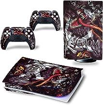 Mmoptop PS5 Skin Venom para PlayStation 5 versão de disco com console e controlador Dualsense – conjunto completo