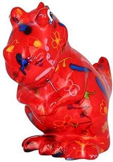 Pomme Pidou | skarbonka ceramiczna | dinozaur Tito | medium | czerwona | Ceramiczna skarbonka z otworem na monety i bardzo...