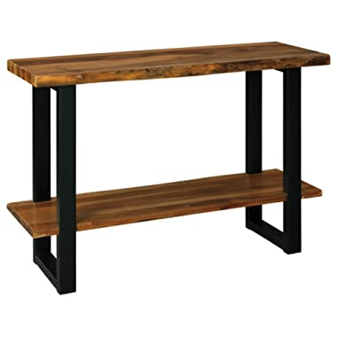 Signature Design by Ashley - Brosward Console Table w/ Fixed Shelf, Brown Wood/Black