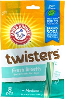 Arm & Hammer Dental Chews for Dogs   Dog Dental Treats That Fight Bad Breath and Remove Plaque & Tartar Without Brushing   Great for Small & Large Dogs