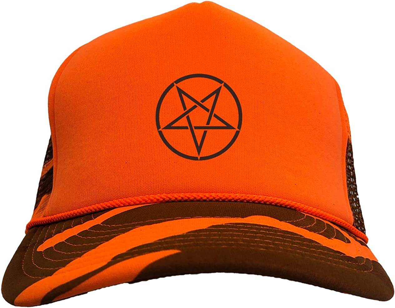 Manufacturer direct delivery Tcombo Pentagram - Satanic Antichrist Camoflauge Hat Trucker Courier shipping free shipping