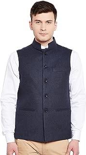 Men's Tweed Bandhgala Festive Nehru Jacket Waistcoat -3 Colors