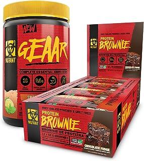 Mutant Geaar Bundle - Mutant GEAAR Sweet Iced Tea 378 G + Mutant Brownies Chocolate Fudge 12 x 58 g