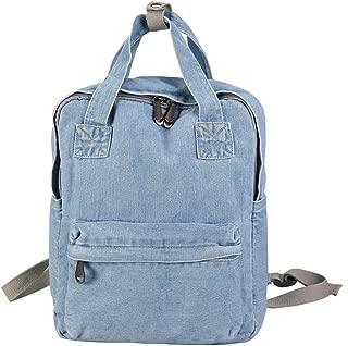 Girls Vintage Denim School Backpack Jeans Rucksack