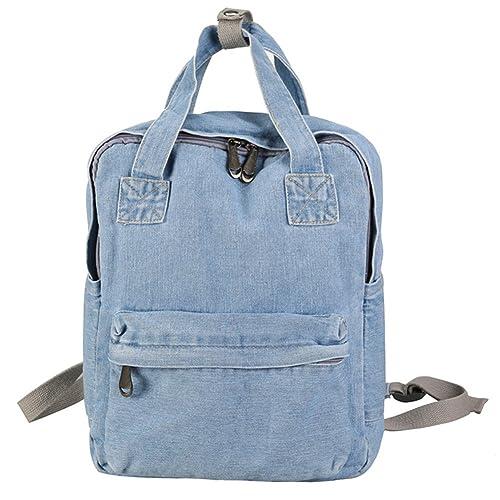 329c6ff2ef ShengTu Girls Vintage Denim School Backpack Jeans Rucksack