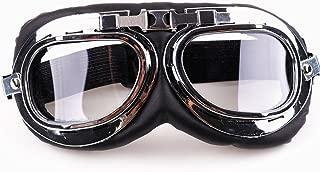 XYZCTEM Aviator Pilot Motorcycle Half Helmet Goggles Flying Motorcycle Biker Motocross Cruisers Sun UV Wind Eye Protect