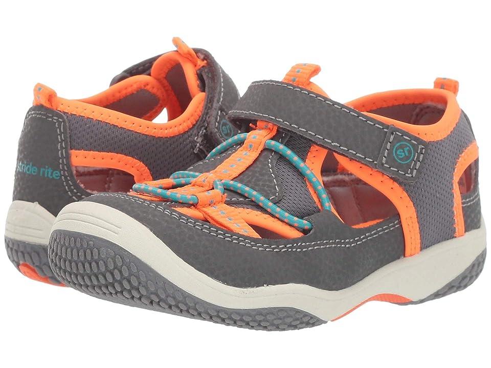 Stride Rite SR Marina (Toddler) (Grey/Orange) Boys Shoes