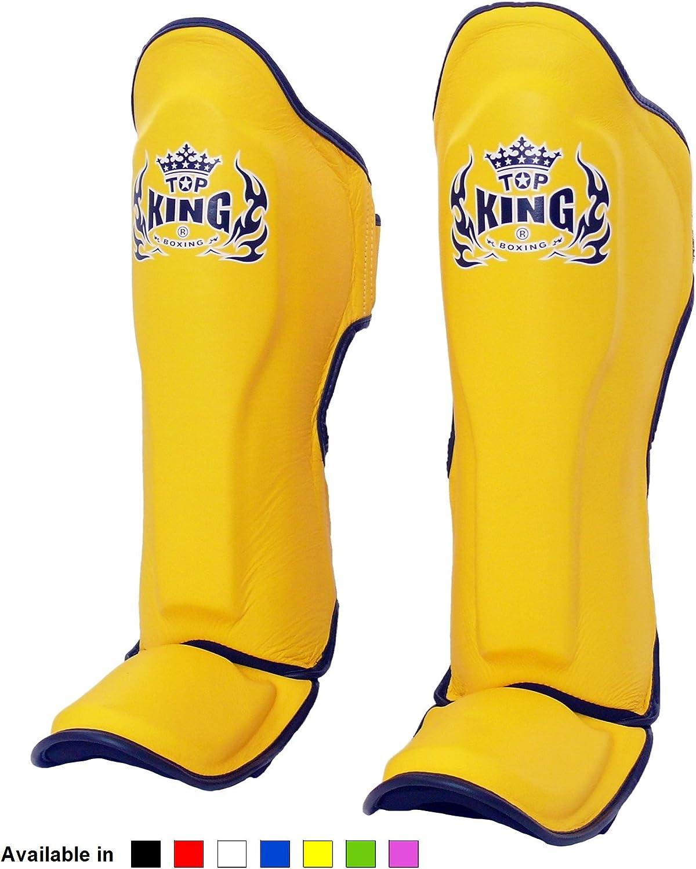 Top King TKSGP GL -BK Espinilleras de muay thai color negro