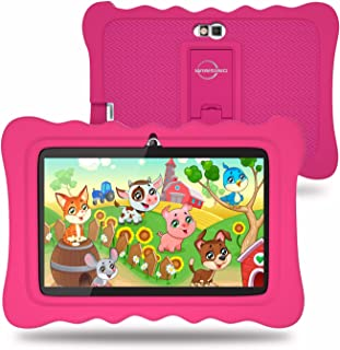 Kids Tablet, 7 Inch Android 9.0 Pie Tablet for Kids, 2+16GB with WiFi, Premium Parental Control, Preinstalled Educational APP and Kid-Proof Case (Pink)