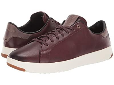 Cole Haan GrandPro Tennis Sneaker (Burnished Wine Leather/Walnut) Men