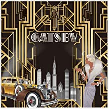Allenjoy 8x8ft Durable Fabric The Great Gatsby Themed Backdrop for Adult Celebration Retro Roaring 20s Party Photography Background Happy Birthday Wedding Decoration Pictures Photo Booth