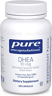 Pure Encapsulations DHEA 10 mg | Supplement for Immune Support, Fat Burning, Hormone..