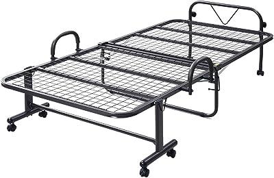 山善 ベッド シングル メッシュ ハイタイプ 折りたたみ ダークブラウン 幅105×奥行208×高さ55.5cm HM-1S(DBR)