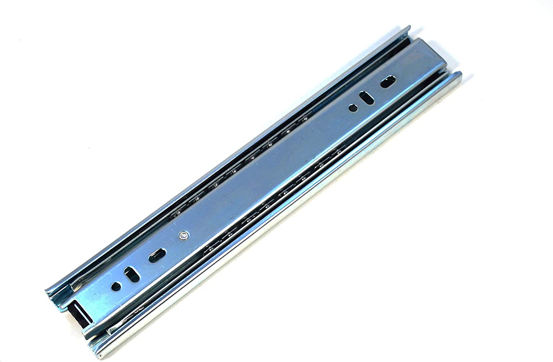 GTV H45 Schubladenschienen Vollausz/üge Schubladenausz/üge Belastbar bis 100 Kg 1 Set = 2 St/ück Teleskopschiene Kugelf/ührung Soft-Close Schienensystem 45.3 x 250 mm Starken Verzinkt Stahl